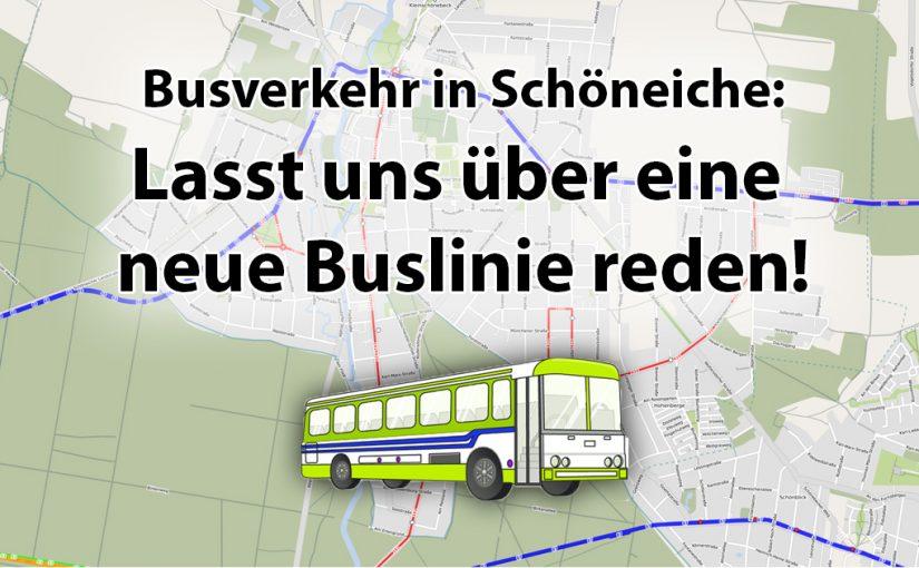 ÖPNV – Lasst uns über eine neue Buslinie reden