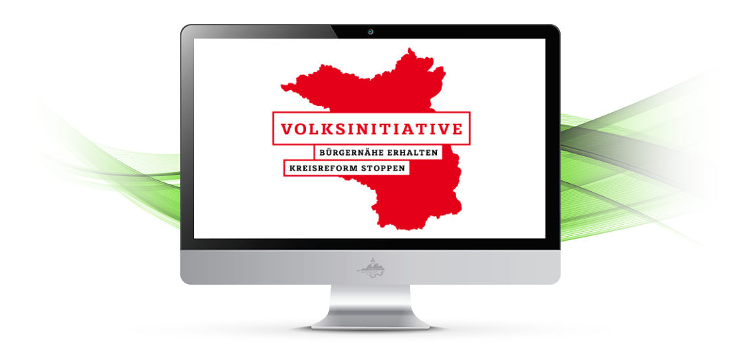"""Bürgernähe erhalten – Kreisreform stoppen"""